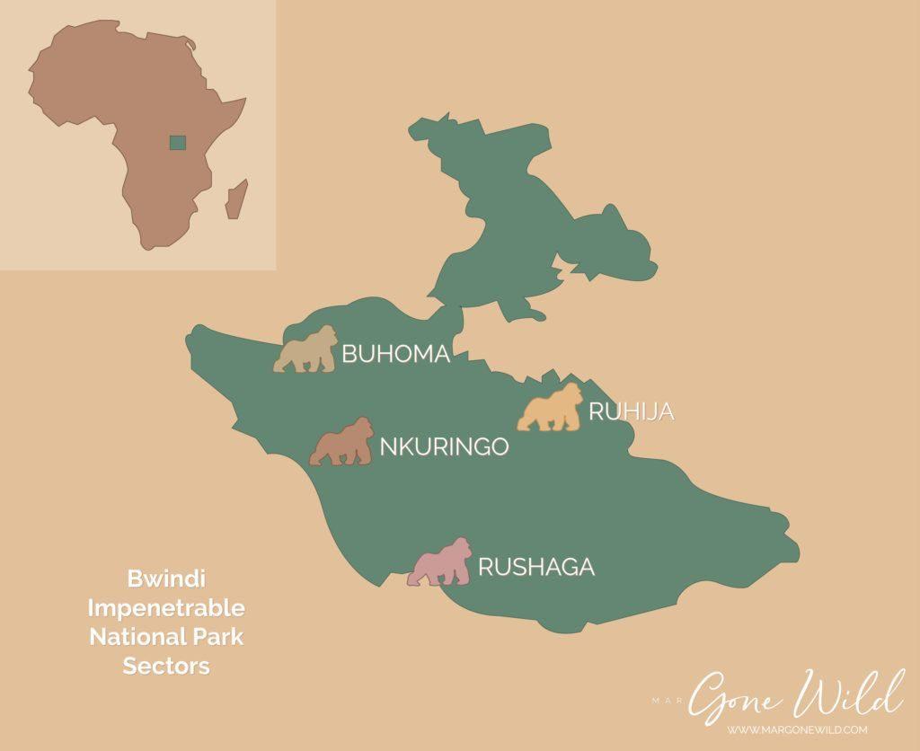 Bwindi Gorilla Trekking Map